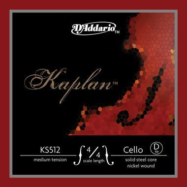 Kaplan Violoncello D Solid Steel, Nickel, KS512