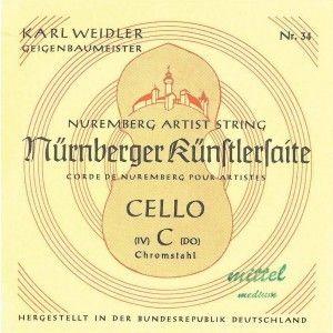 Nürnberger Künstler Violoncello G Saite