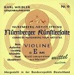Nürnberger Künstler Violine E Stahl