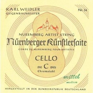 Nürnberger Künstler Violoncello C Saite